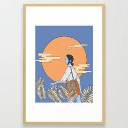 Monday Moonlight Framed Art Print
