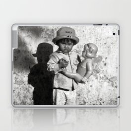 GIRL WITH DOLL in VIETNAM Laptop & iPad Skin