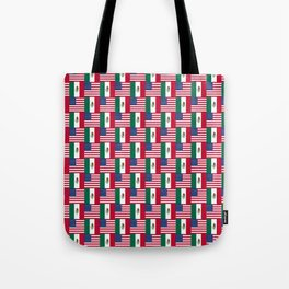 Mix of flag : mexico and usa Tote Bag