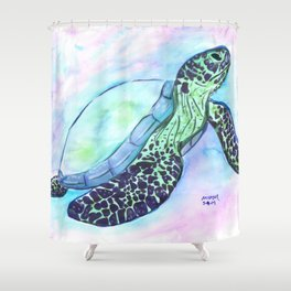 Save The Sea Turtles (50% of commission is donated to the World Wildlife Fund) Shower Curtain
