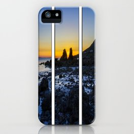 Sunset Through The Rocks Tryptych iPhone Case