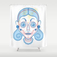 rare Shower Curtains featuring A Rare Girl by Ukko