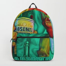 Vintage Green Fairy Absinthe Aperitif Vincent van Gogh Lithograph Advertisement Poster Backpack