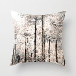 Japanese Cedar woods Throw Pillow