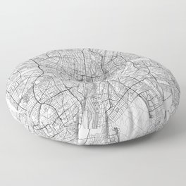 Munich Map Line Floor Pillow