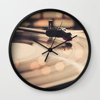 record Wall Clocks featuring Record player by Basic Design