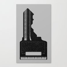 Piano Key. Canvas Print