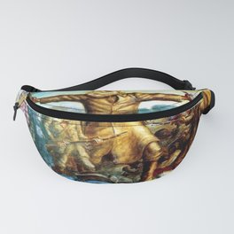 Classical Abolitionist Masterpiece by John Steuart Curry - Tragic Prelude  - John Brown. Fanny Pack