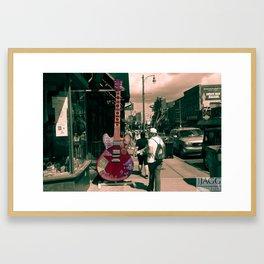 Downtown Memphis Guitar Framed Art Print