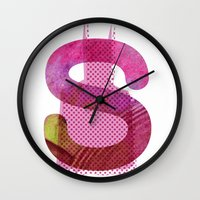 batgirl Wall Clocks featuring batgirl by Hiena Illustration