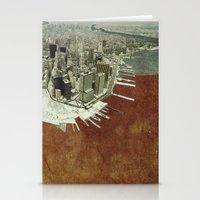 manhattan Stationery Cards featuring manhattan by Luca Stancari