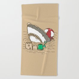 Sandy Beach Shark Beach Towel