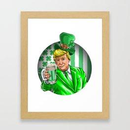Trump St. Patricks Day Green Beer Framed Art Print