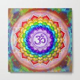 Sahasrara Chakra - Crown Chakra Rainbow Lotus - Series V Metal Print