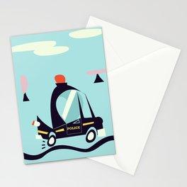 Cartoon Police Car Stationery Cards