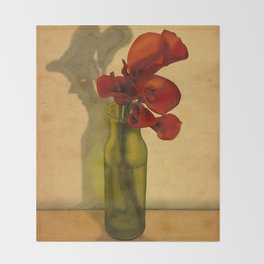 Calla lilies in bloom Throw Blanket