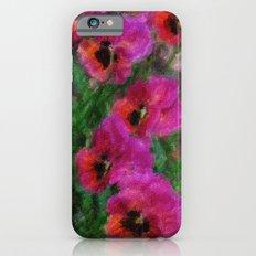 Pansies Painting Slim Case iPhone 6s