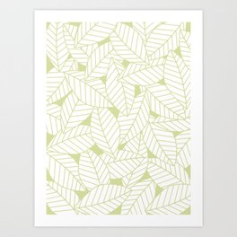 Leaves in Fern Art Print