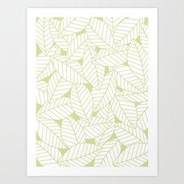 Leaves in Fern Art Print