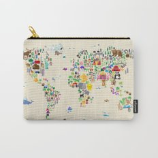 Animal Map of the World Carry-All Pouch