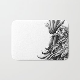 Ornately Decorated Rooster Bath Mat