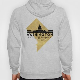 WASHINGTON D.C. DISTRICT OF COLUMBIA SILHOUETTE SKYLINE MAP ART Hoody