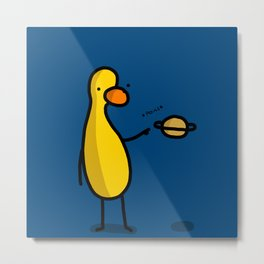 Saturn Duck | Veronica Nagorny Metal Print