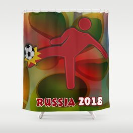 Soccer Kicker Shower Curtain