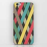 striped iPhone & iPod Skins featuring Striped by General Design Studio