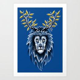 Deer Lion Art Print