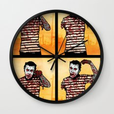 The Zombie Mime! Wall Clock