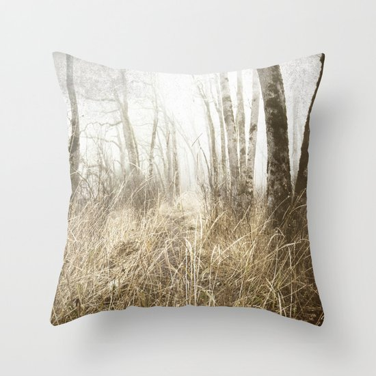 MIMICKED FORMS IN A MYSTERIOUS WOOD Throw Pillow