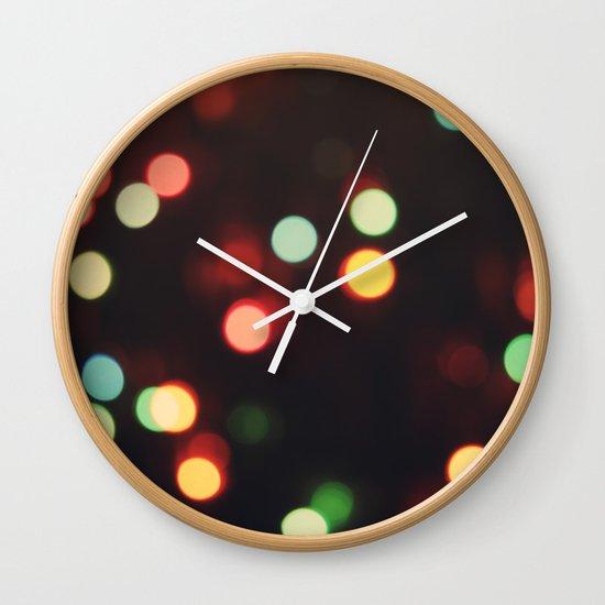 Christmas Lights Wall Clock