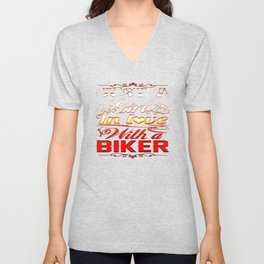 In love with a Biker Unisex V-Neck