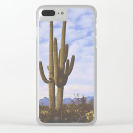 Cactus at Dusk Clear iPhone Case