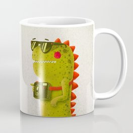 Dino touristo (olive) Coffee Mug