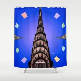 The Chrysler Clock Shower Curtain