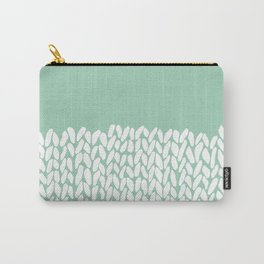 Half Knit Mint Carry-All Pouch