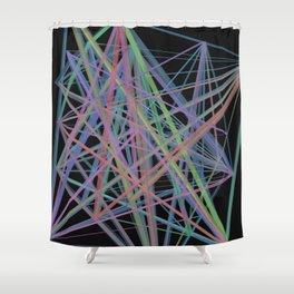 Geometric Diamond Light Prism Shower Curtain