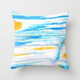 soft sea breeze Throw Pillow
