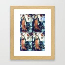 """""""blessed art thou among"""" Framed Art Print"""