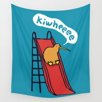 kiwi Wall Tapestries featuring Kiwi by Picomodi