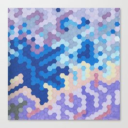 Nebula Hex Canvas Print