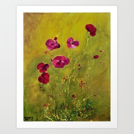 LONELY POPPIES Art Print