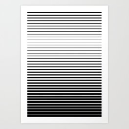 plain lines Art Print