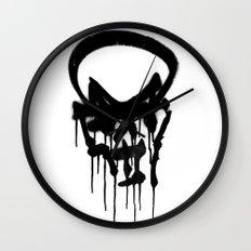 Graffiti Skull Wall Clock