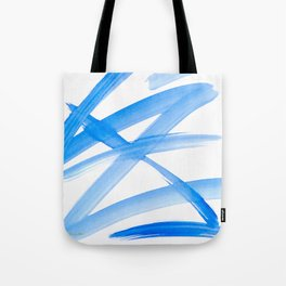 Blue Abstract Painting Tote Bag