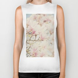 pink magnolia blossoms ... Biker Tank