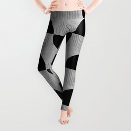 Black abstract 60s circles on concrete - Mix & Match with Simplicty of life Leggings