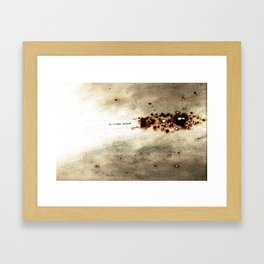 I love you in spite of (Je t'aime malgré) Framed Art Print